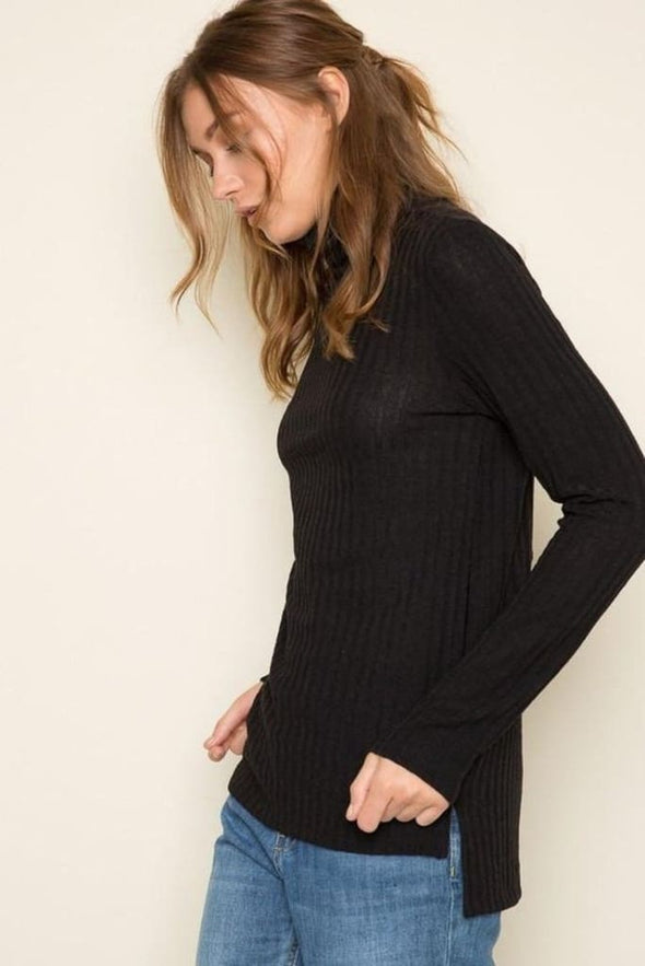Bobbie Ribbed Turtleneck - SWEATER - Affordable Boutique Fashion