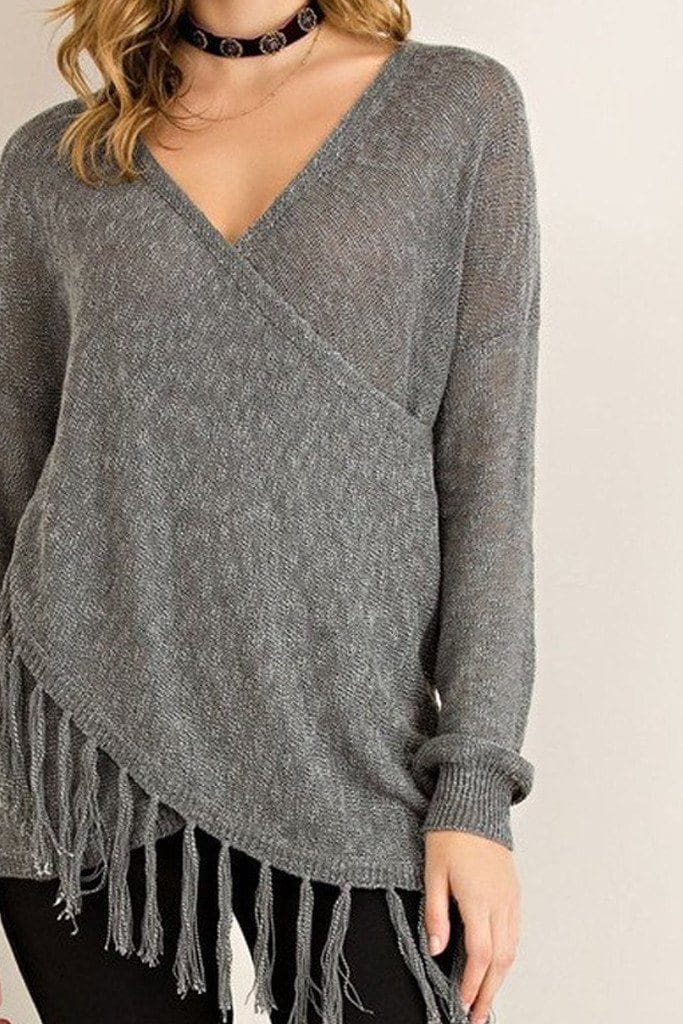 Bono Wrap Front Sweater [Two Colors] - sweater - Affordable Boutique Fashion