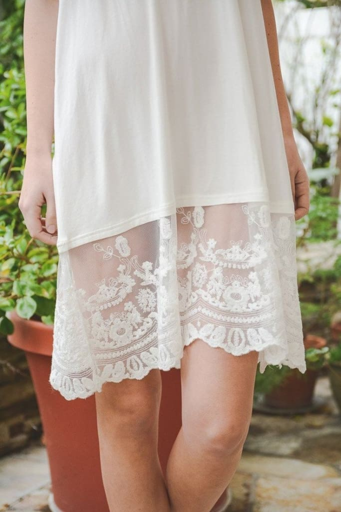 Bordeaux Slip - Dress Extender Dress - White - Dresses - Affordable Boutique Fashion