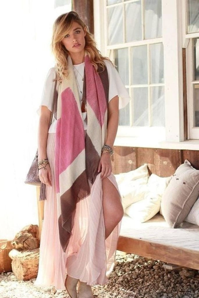 Boss Oversized Blanket Scarf in Blush - Accessories - Affordable Boutique Fashion