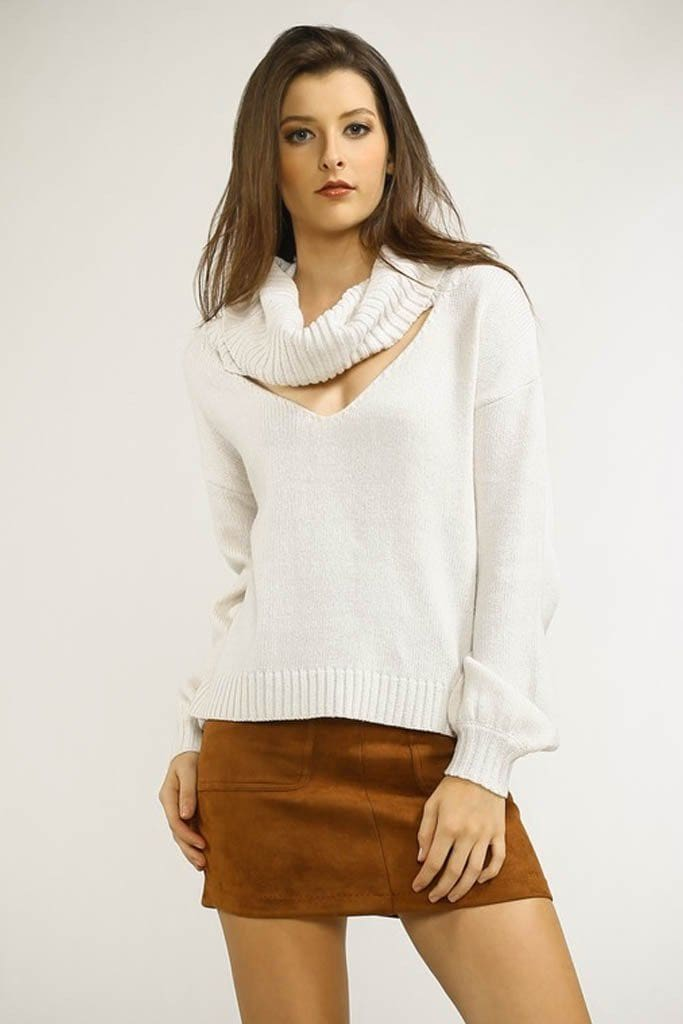 Bright Lights Cowlneck Sweater - - Tops - Affordable Boutique Fashion