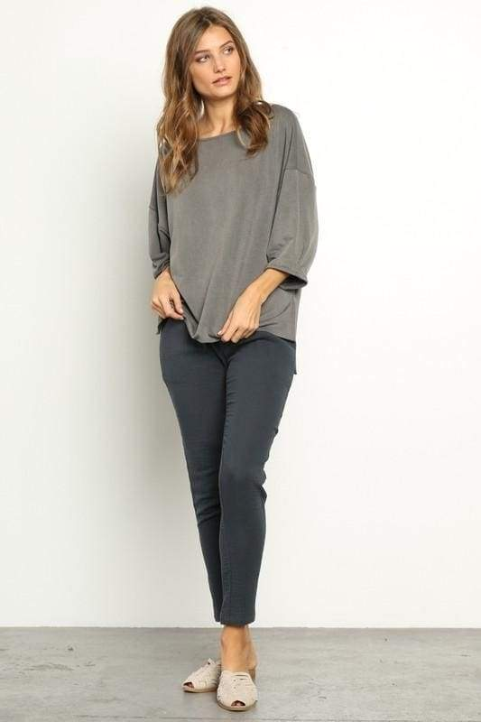 Campbell Relaxed Knit Top - Tops - Affordable Boutique Fashion