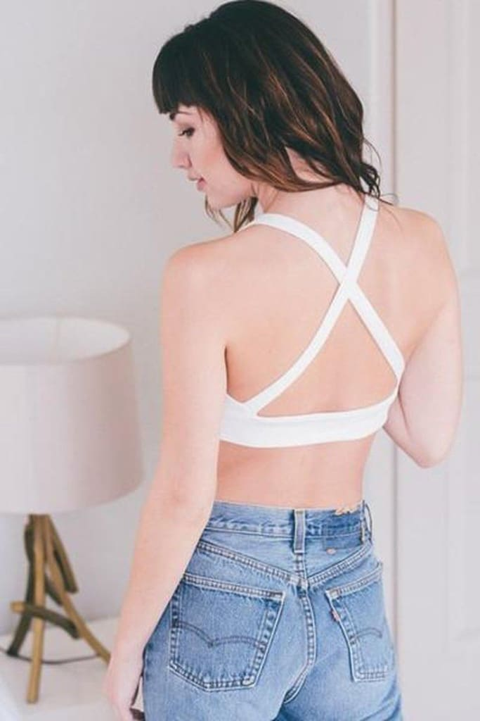 Cant Strap Me Down Bralette - White - Bottoms - Affordable Boutique Fashion