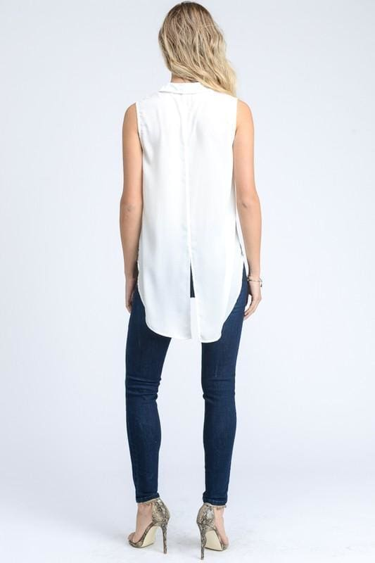 Caroline Classic White Blouse - Tops - Affordable Boutique Fashion