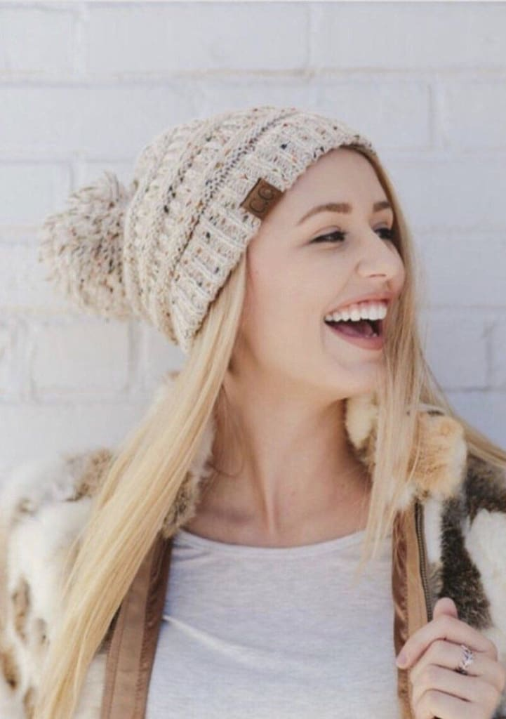CC Boise Pom Pom Knit Beanie - More Colors. - hats - Affordable Boutique Fashion