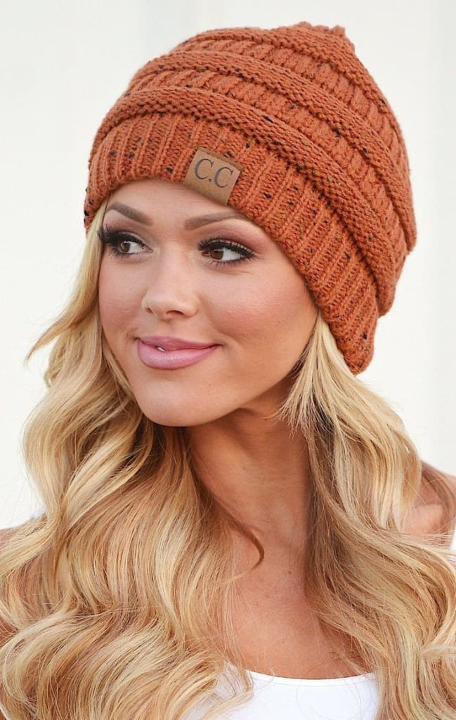 CC Confetti Knit Beanie - 5 colors. - FINAL SALE - Affordable Boutique Fashion