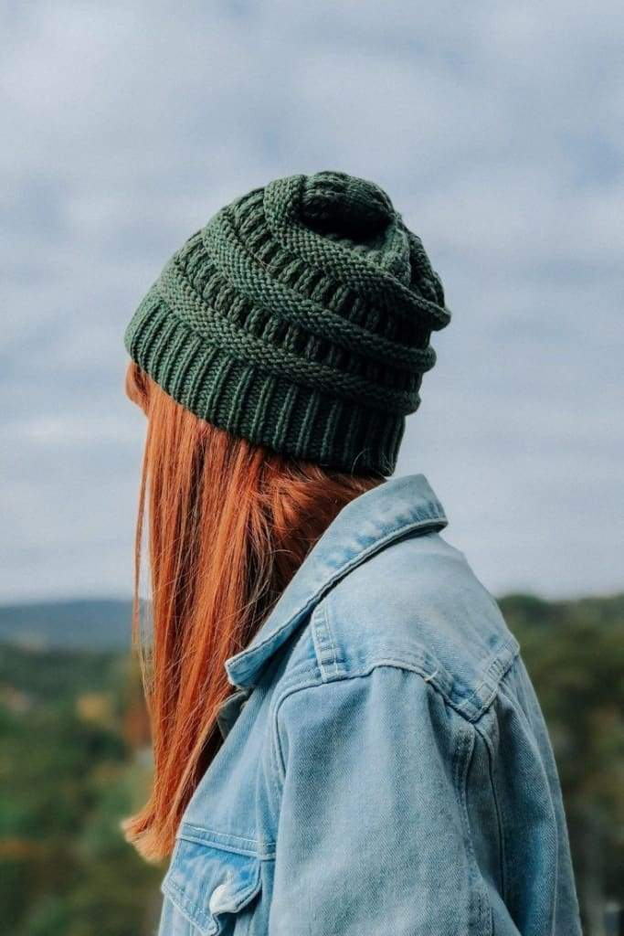 CC Lake Tahoe Beanie - Olive - FINAL SALE - Affordable Boutique Fashion