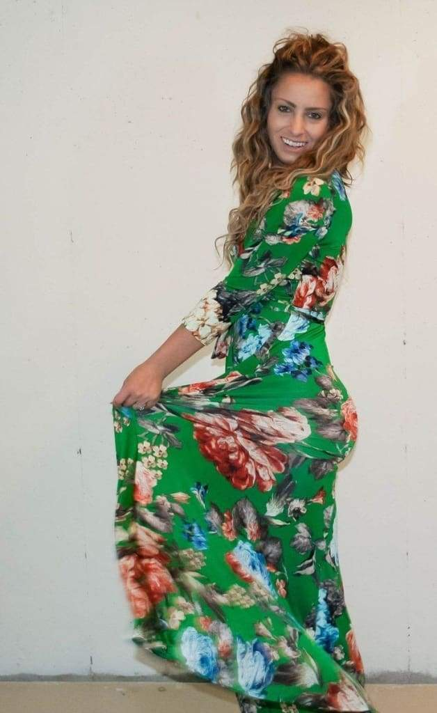 Charlie Bright Forest floral print wrap maxi dress - DRESSES - Affordable Boutique Fashion