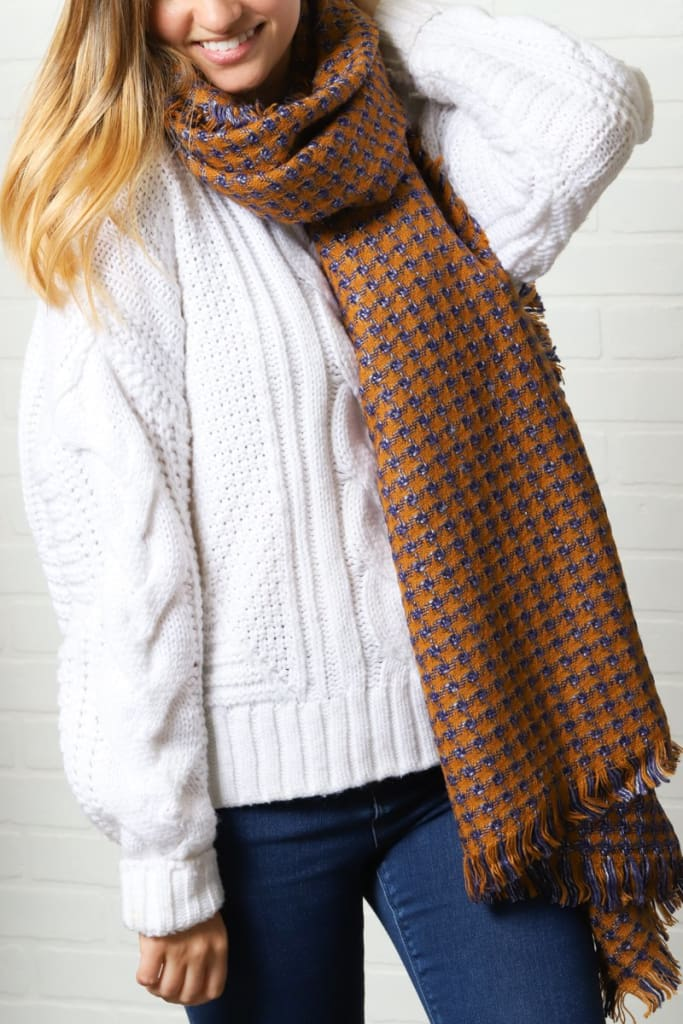 Chicago Plaid Scarf - cold weather - Affordable Boutique Fashion