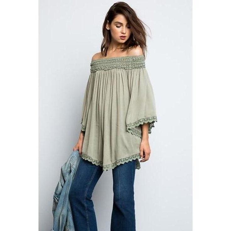 Clara Off-Shoulder Blouse - Tops - Affordable Boutique Fashion