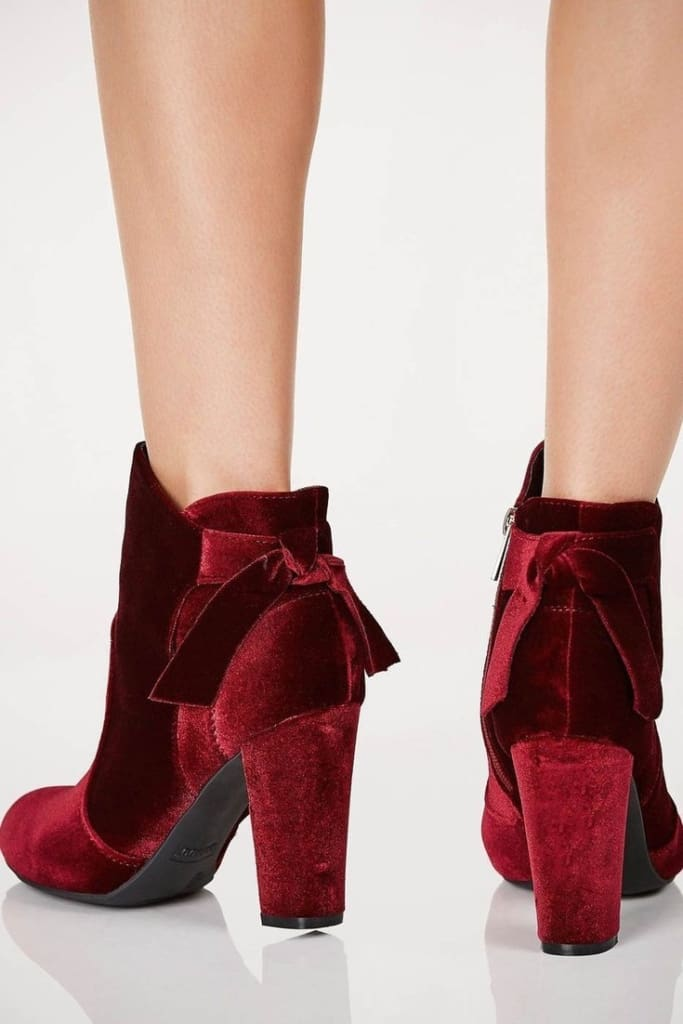 Crush on You Velvet Booties . - SHOES - Affordable Boutique Fashion
