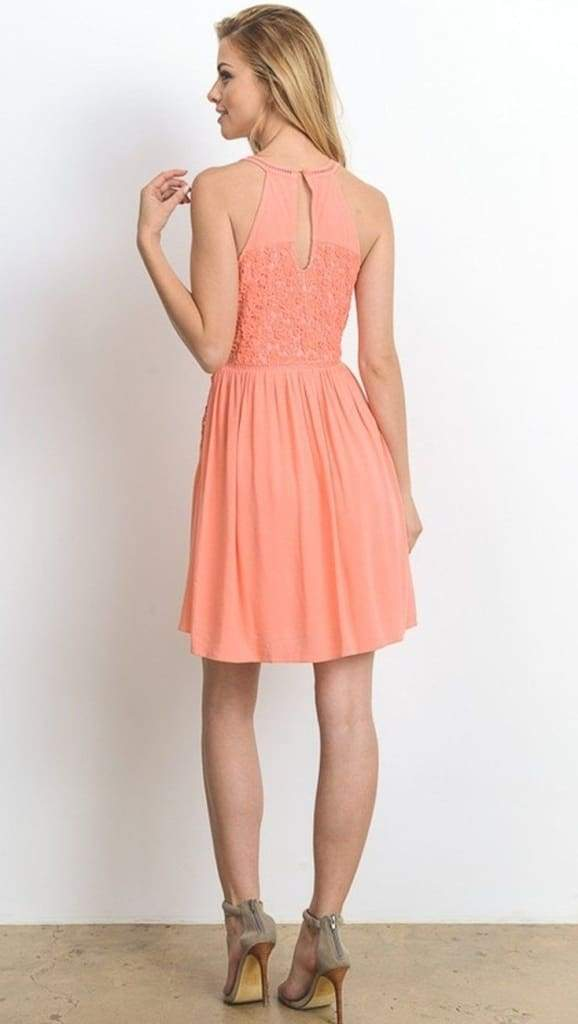 Crushing Hard Coral Shift Dress - DRESSES - Affordable Boutique Fashion