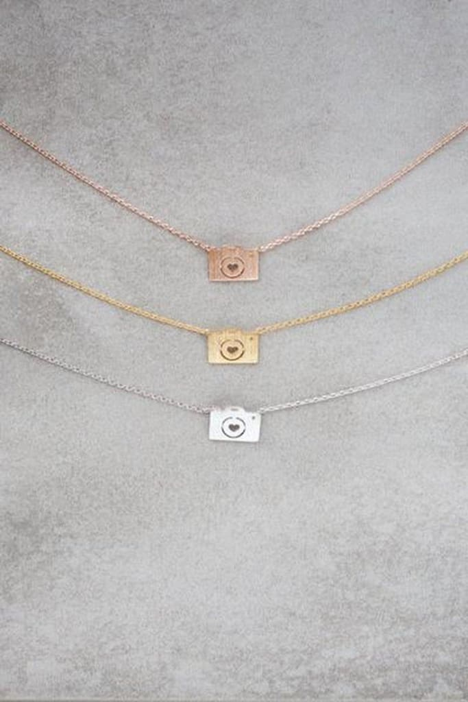 Dainty Camera Necklace - Tops - Affordable Boutique Fashion