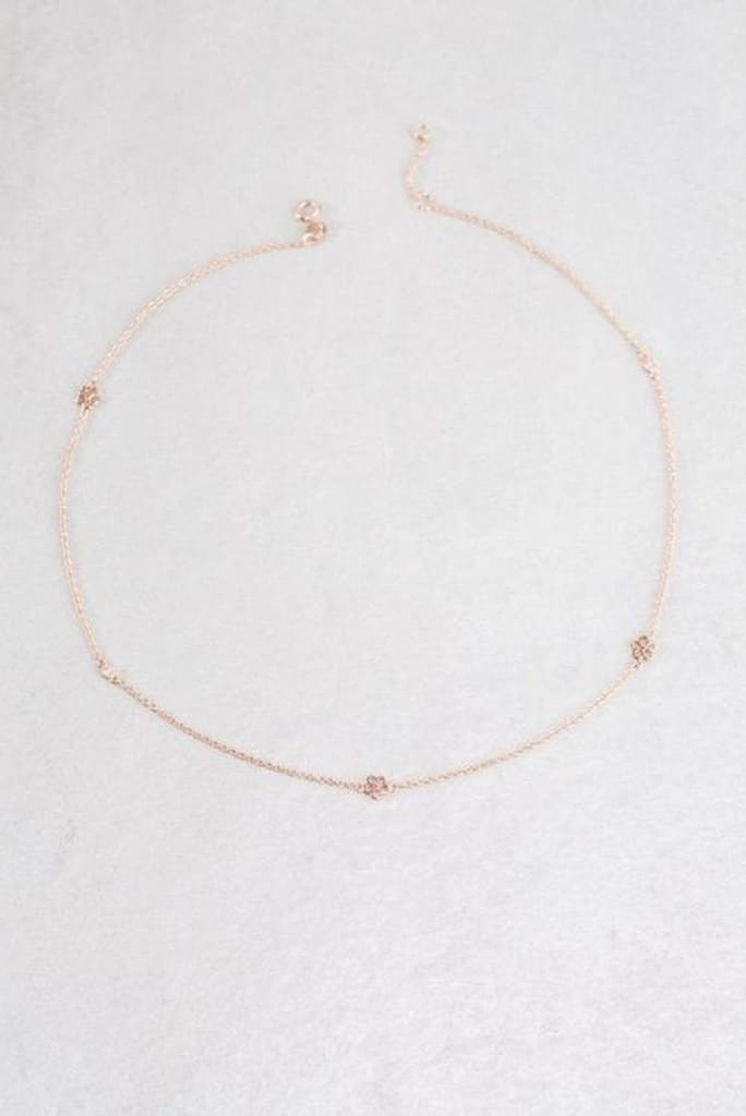 Dainty Daisy 14K Strand Necklace - JEWELRY - Affordable Boutique Fashion