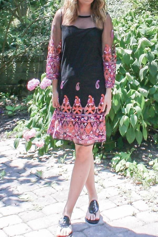 Dainty Details Embroidered Shift Dress - Dresses - Affordable Boutique Fashion