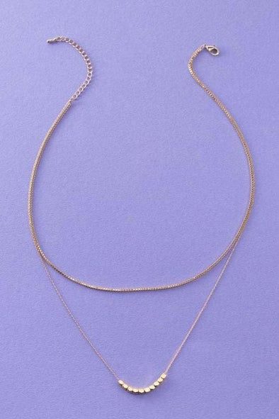 Dainty Double Layered Necklace - Tops - Affordable Boutique Fashion