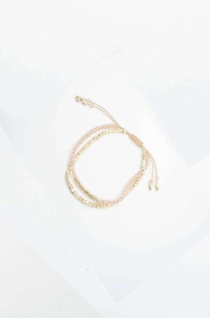 Dainty Gold Beaded Bolo Bracelet -  - Affordable Boutique Fashion