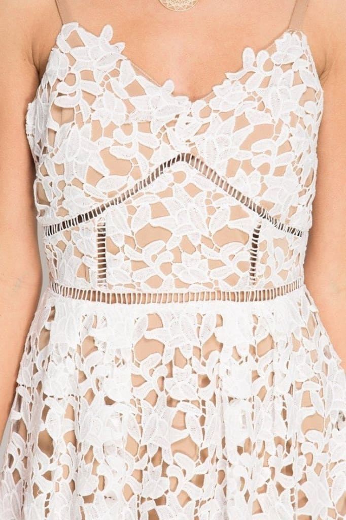 Dakota Fit and Flare Lace Dress - DRESSES - Affordable Boutique Fashion