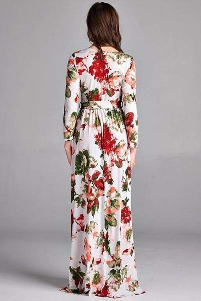 Damsel Red Floral Wrap Dress - Dresses - Affordable Boutique Fashion