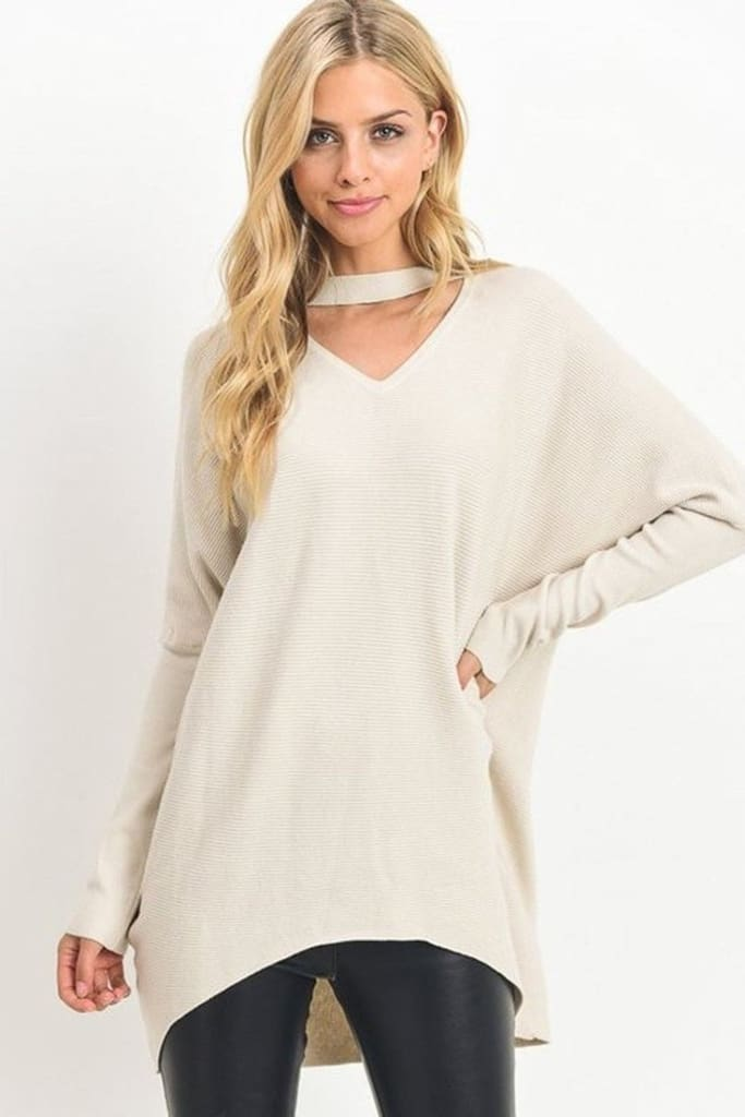 Danielle Cowl Neck Oversized Pullover [Two Colors] - SWEATER - Affordable Boutique Fashion
