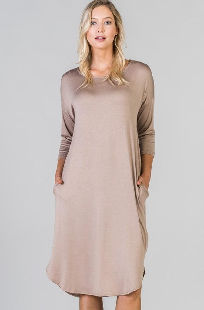 Day Trippin Weekday Pocket Midi - DRESSES - Affordable Boutique Fashion