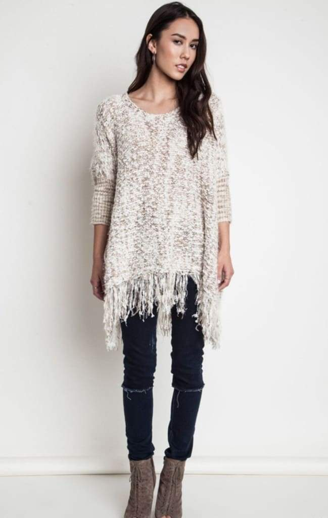 Dreamer Fringe Tunic Sweater - Shop Pretty Spring Dresses