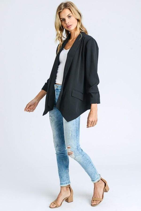Easy Going Black Blazer - jacket - Affordable Boutique Fashion