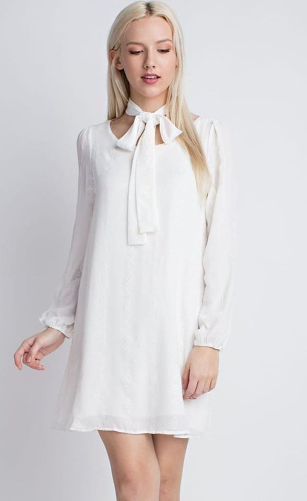Ellie White Shift Dress by HONEY PUNCH - Dresses - Affordable Boutique Fashion