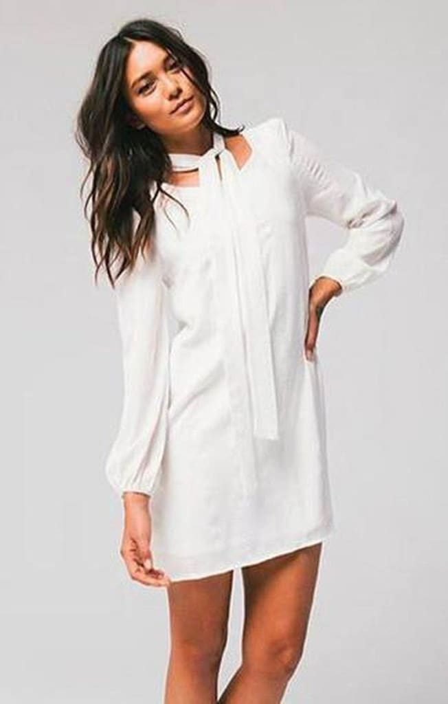 5dc0b25c747 Ellie White Shift Dress by HONEY PUNCH - Dresses - Affordable Boutique  Fashion