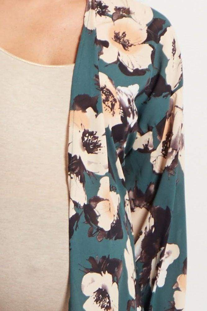 Emily Forest Floral Kimono - Tops - Affordable Boutique Fashion