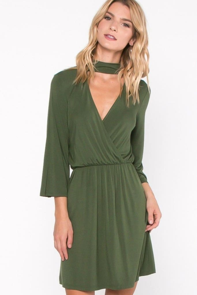 EVERLY Keyhole Choker Dress - DRESSES - Affordable Boutique Fashion
