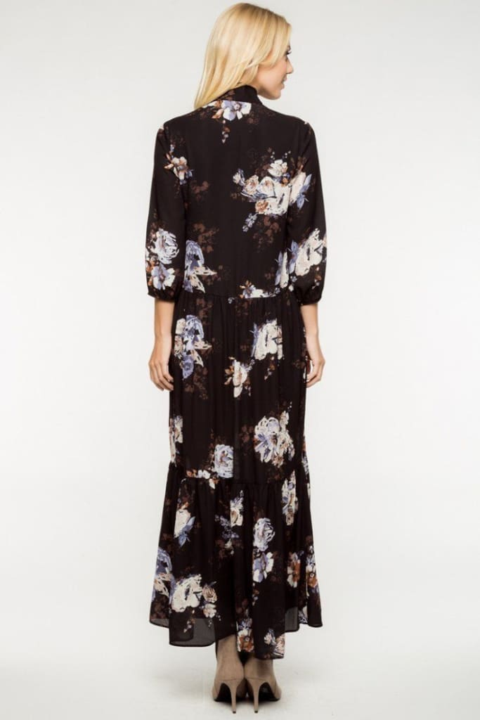 EVERLY London Floral Maxi Dress - DRESSES - Affordable Boutique Fashion
