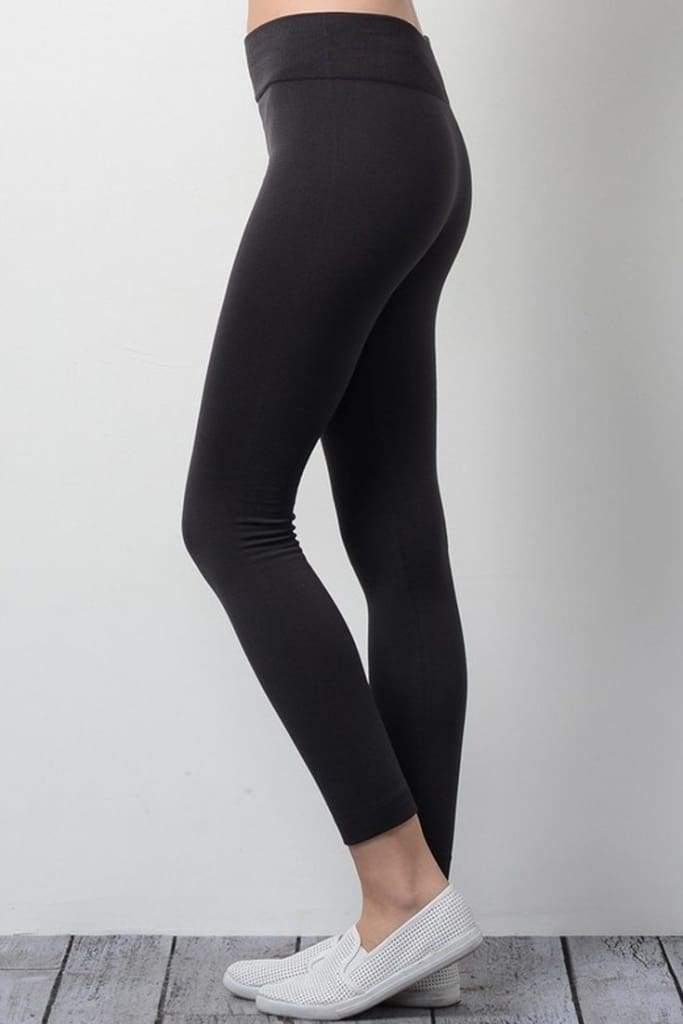 Falling Grace Essential High Waist Leggings - Black - Bottoms - Affordable Boutique Fashion
