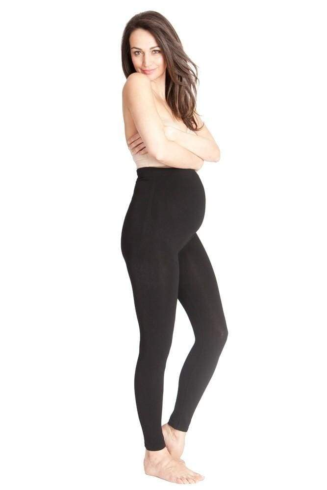 Falling Grace Over the Bump Black Leggings - Bottoms - Affordable Boutique Fashion