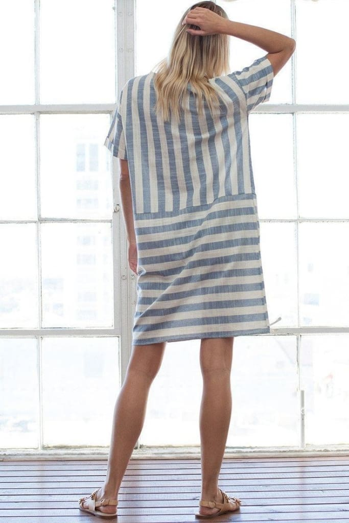"""Flynn"" Vintage Striped Midi Dress - Dresses - Affordable Boutique Fashion"