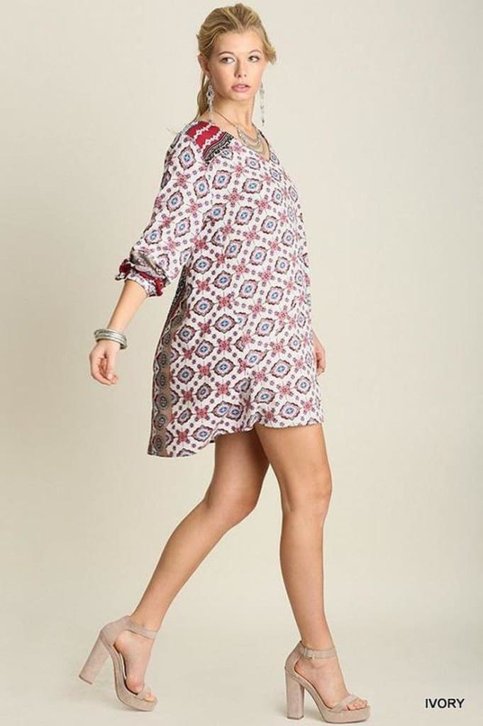 Follow My Lead Patterned Shift Dress - . - SALE - Affordable Boutique Fashion
