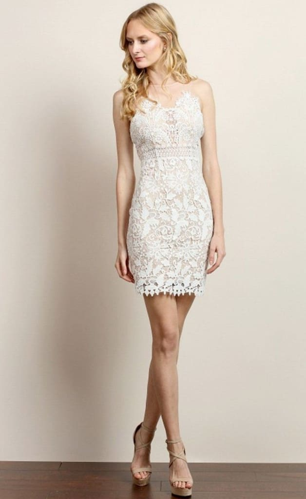 Franco White Lace Dress - DRESSES - Affordable Boutique Fashion