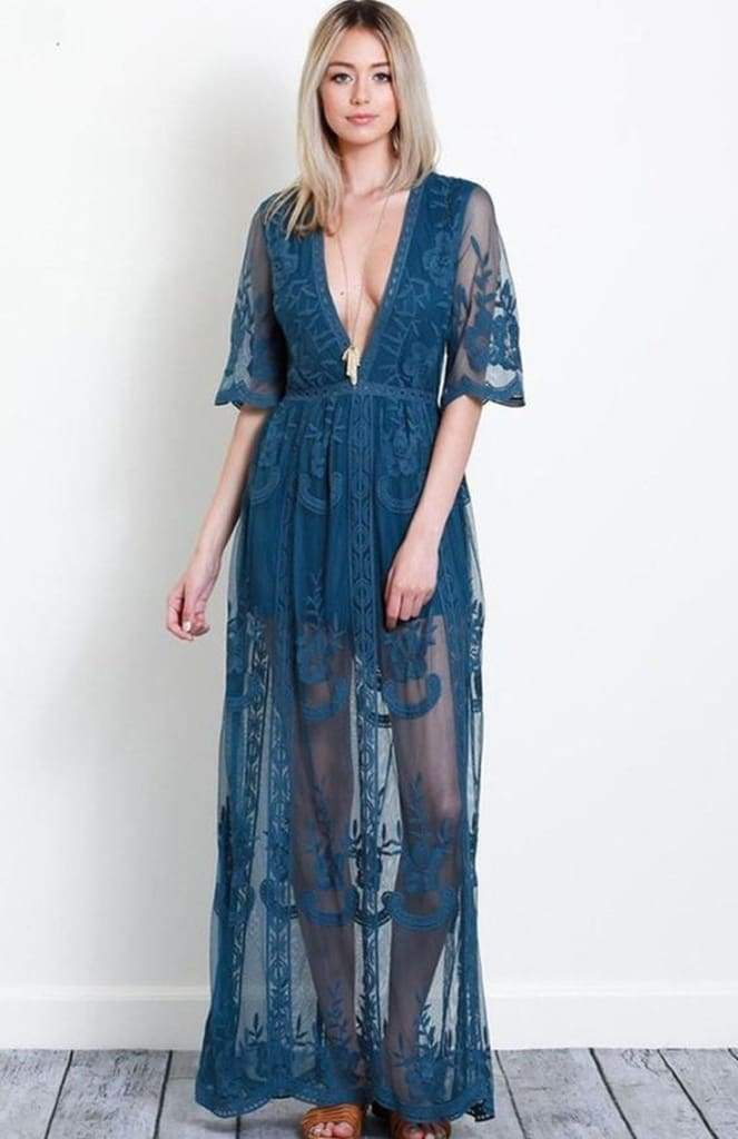 f8e1fa763e0c Gemma Lace Maxi Dress - Teal - Dresses - Affordable Boutique Fashion. Gemma Lace  Maxi Dress - Teal - Dresses - Affordable Boutique Fashion