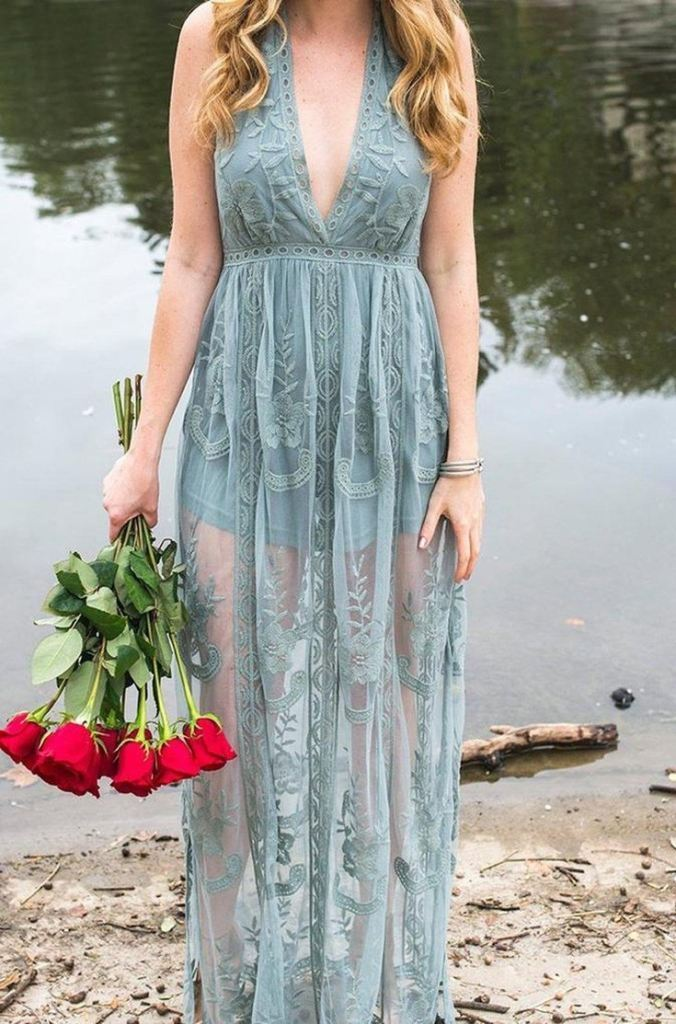 Gemma Sleeveless Dusty Sage Maxi Dress - Dresses - Affordable Boutique Fashion
