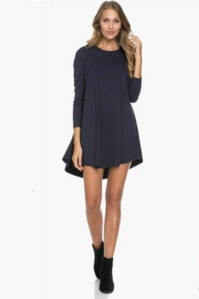 Girl Boss Swing Dress - Olive - Dresses - Affordable Boutique Fashion