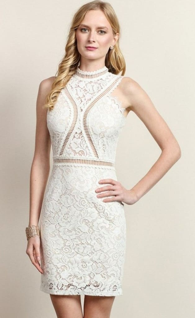 3739d85affc Giselle White Lace Dress - Dresses - Affordable Boutique Fashion