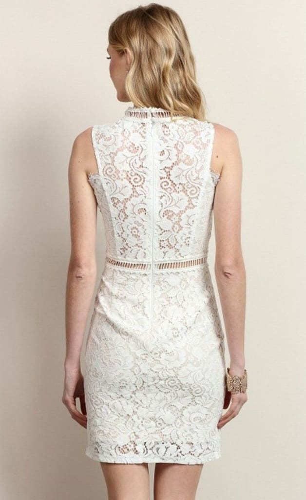 Giselle White Lace Dress - Dresses - Affordable Boutique Fashion