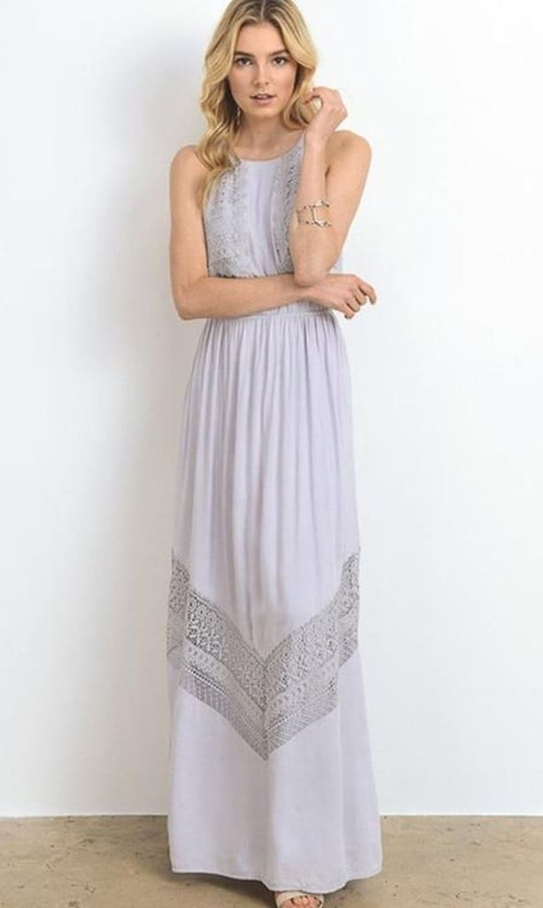 ebabf26d61 Gretchen Maxi Dress - Grey - DRESSES - Affordable Boutique Fashion