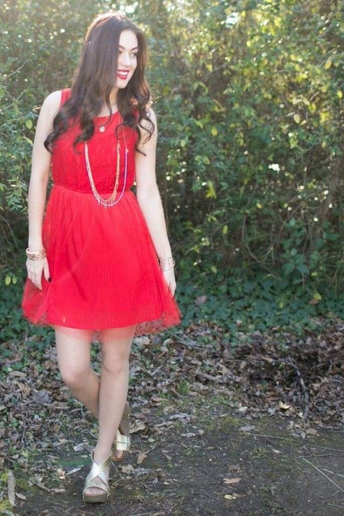 Heart on Fire Red Tulle Dress - ! - Dresses - Affordable Boutique Fashion