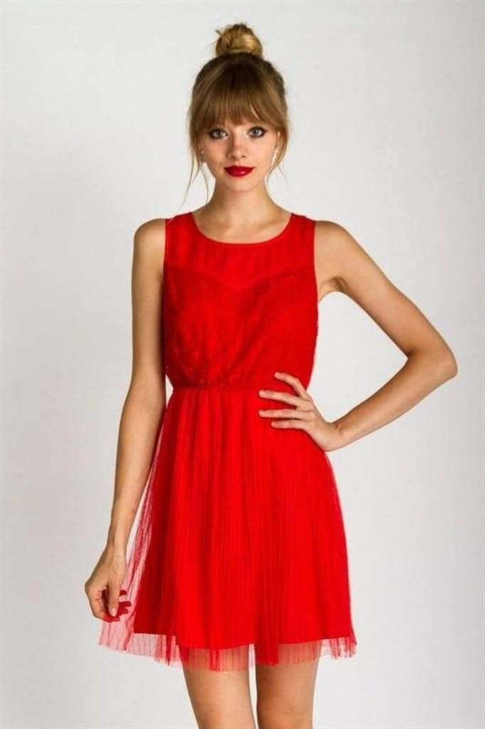 Heart on Fire Red Tulle Dress - . - Dresses - Affordable Boutique Fashion