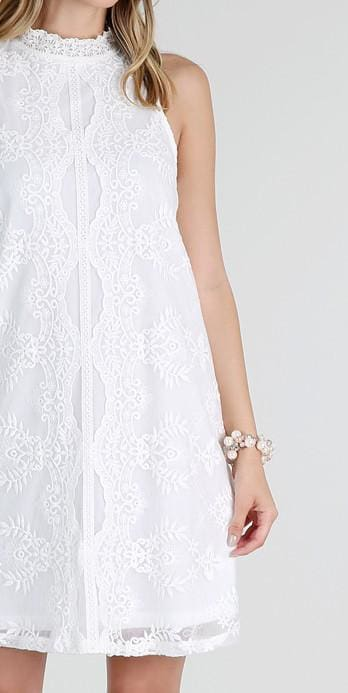 1c89a0c54f5 Hilton White Lace Shift Dres - DRESSES - Affordable Boutique Fashion. Hilton  White Lace Shift Dres - DRESSES - Affordable Boutique Fashion