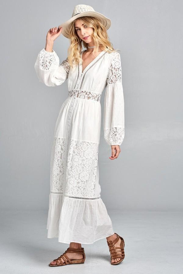 Hummingbird Bohemian Maxi Dress - Dresses - Affordable Boutique Fashion