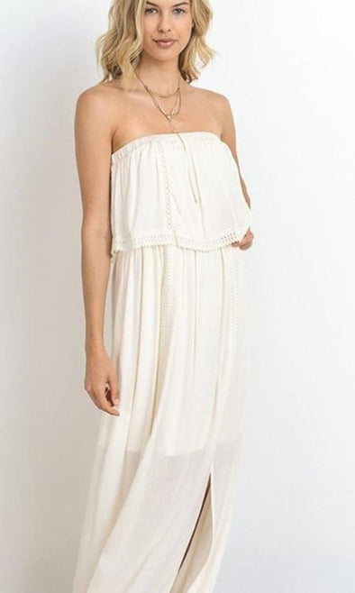 Ibiza Crochet Maxi Dress - DRESSES - Affordable Boutique Fashion
