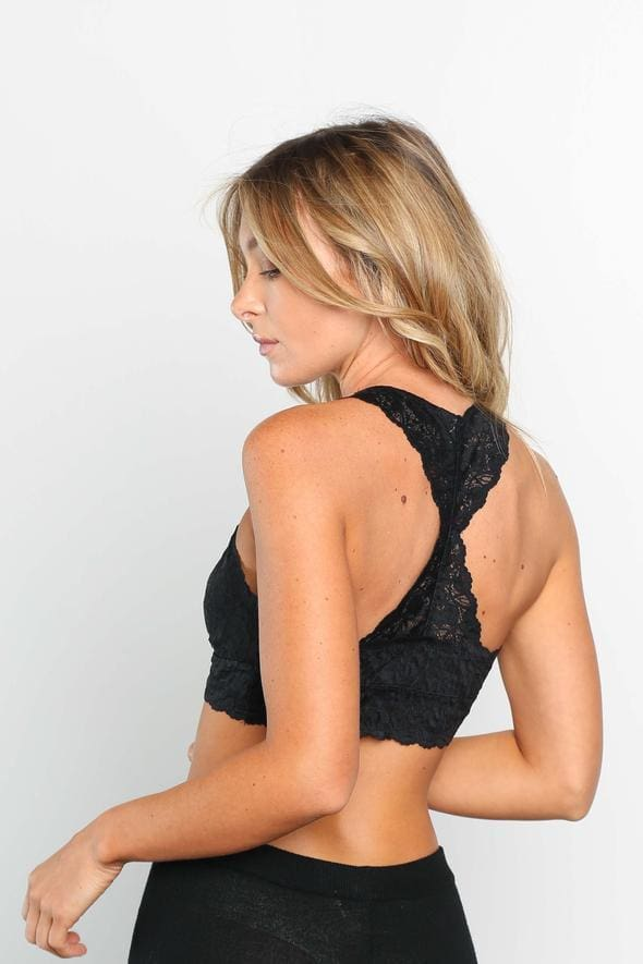 Indie Lace Racerback Bra - Black - Bottoms - Affordable Boutique Fashion