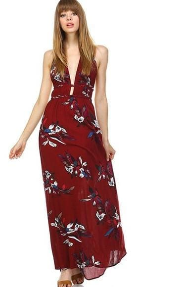 Ivy Falls Bohemian Maxi Dress - DRESSES - Affordable Boutique Fashion